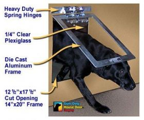 Heavy Duty Gun Dog House Door